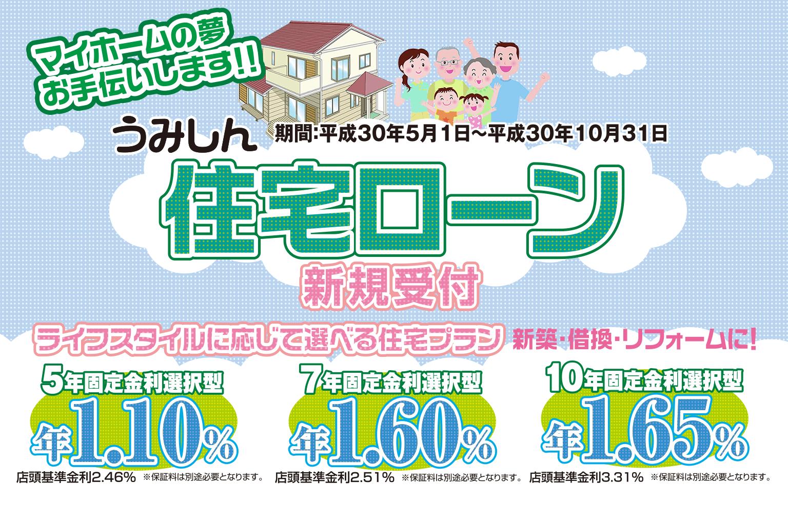 うみしん住宅ローン新規受付